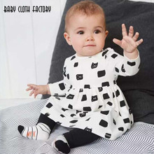 2017 Baby Girl clothing sets Newborn Long sleeve T-shirt Beutiful Peplum Dress+Leggings Pants 2pcs infant Clothing Outfit Suits