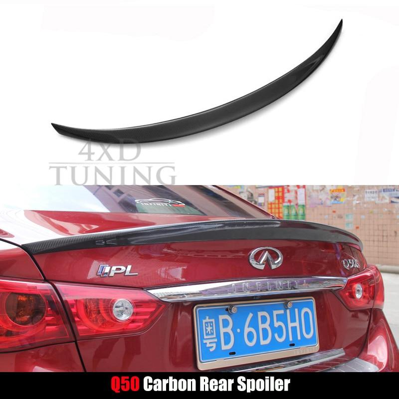 For Infiniti Q50 2014 2015 2016 Carbon Fiber Rear spoiler Rear Wing Trunk <br><br>Aliexpress
