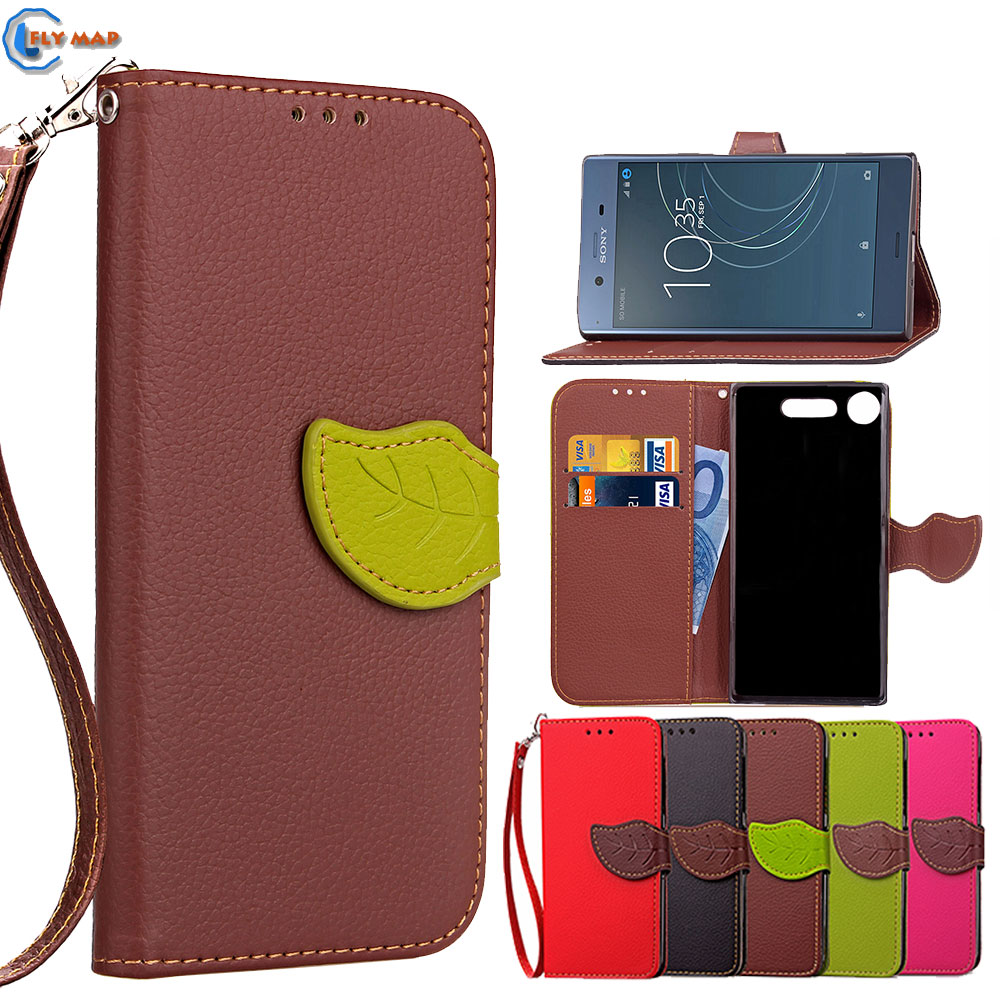 Coque Sony Xperia XZ1 Dual Wallet Flip Phone Case PU Leather Cover Sony Xperia XZ 1 G8342 SO-01K SOV36 G8341 Capa Box