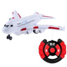 Buy Plastic Mini Electric RC Airplane Model LED Flashing Music Sound Remote Control Aircraft Plane Toy Gifts Boys for $12.85 in AliExpress store