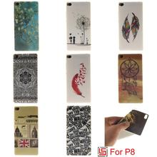 Best Beautiful Cheap Pretty Ultra Thin TPU Silicone Soft Phone Cell Case caso Cover Cove Bag For Huawei Huwei P8 P 8 Owl Tiger