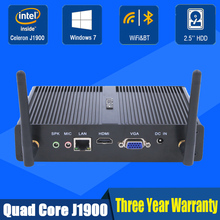 Celeron J1900 Mini PC Quad Core 5*USB ports HYSTOU VGA HDMI  WiFi&Bluetooth Gigabit LAN port Mini barebone PC Cheap PC computer