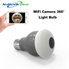 360 Panoramin Smart Home Safty Wifi VR Camera LED Bulb Security Camcorder Motion Detection CCTV Support PC Tablet Phone