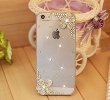 Bling Rhinestone Silver Flower Phone Cases Cover for Samsung S4 S5 mini S6 S7edge S8 Note 3 4 5 for iPhone 4s 5s SE 5C 6s 7 Plus(China)