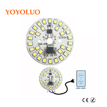 YOYOLUO LED Lamp Chip 3W 5W 7W 9W 12W 15W 220V 230V 240V Input Smart IC Driver Fit For DIY Cold Warm White LED bulb Spotlight(China)