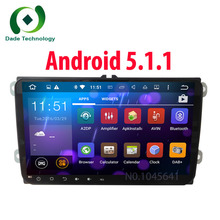 Quad Core 2 din Android 5.1.1 Car stereo DVD player for VW Volkswagen SKODA GOLF 5 Golf 6 POLO PASSAT CC JETTA TIGUAN TOURAN GPS
