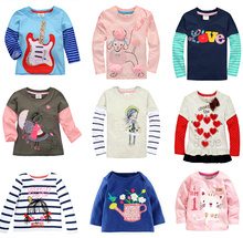 Promotions cotton2017Retail Brand Girl And Boy T-shirts Girls Boys top Clothing Long  All For Children's Clothing andaccessories