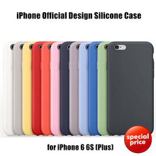 For iPhone 5 5S SE 6 6S Plus Original Silicone Silicon Case Elegant Official Design Ultra Slim Lightweight Protective Cover