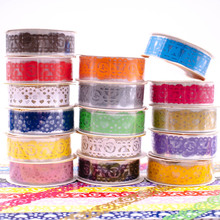 All Differents Colors Lace Tapes Sticky Patterns DIY Decorative Adhesive Masking Tape Home Supplies 1PCS