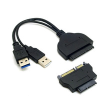 "1set USB 3.0 to SATA 22Pin & SATA to 16Pin Micro SATA Adapter for 1.8"" 2.5"" Hard Disk Driver With Extra USB Power Cable"