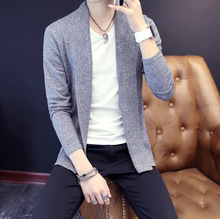2017 spring autumn men fashion open style sweaters cardigans young men casual sweaters cardigans