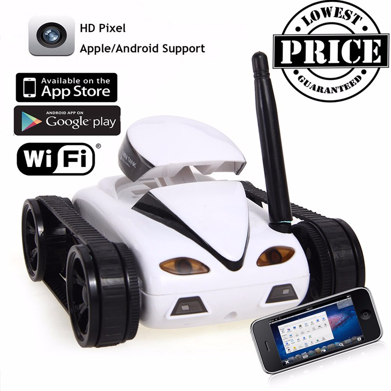 777-270 Mini RC Tank Camera IOS Android Phone Wifi Real-time Transmission Remote Control Tanks Shoot Robot RC Toys kid