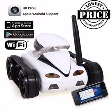 777-270 Mini RC Tank With Camera IOS Android Phone Wifi Real-time Transmission Remote Control Tanks Shoot Robot RC Toys for kid(China)