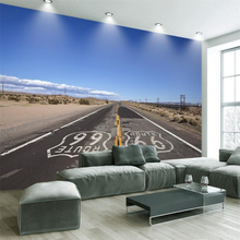 beibehang Custom Wall paper 3D Extreme Space 66 Highway Tooling Living Room TV Backdrop Decorative Paintings(China)