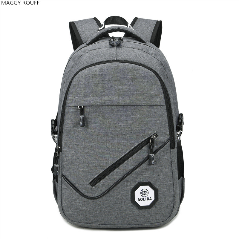 MAGGY ROUFF External Charging USB Function Laptop Backpack Mens Business Backpack  Daypack 17 inch <br>
