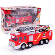 Dibang For Boys Kids Truck Firetruck Fireman Fire Truck Vehicles Car Music Light Spray Water Gun Toy Cool Educational Toys