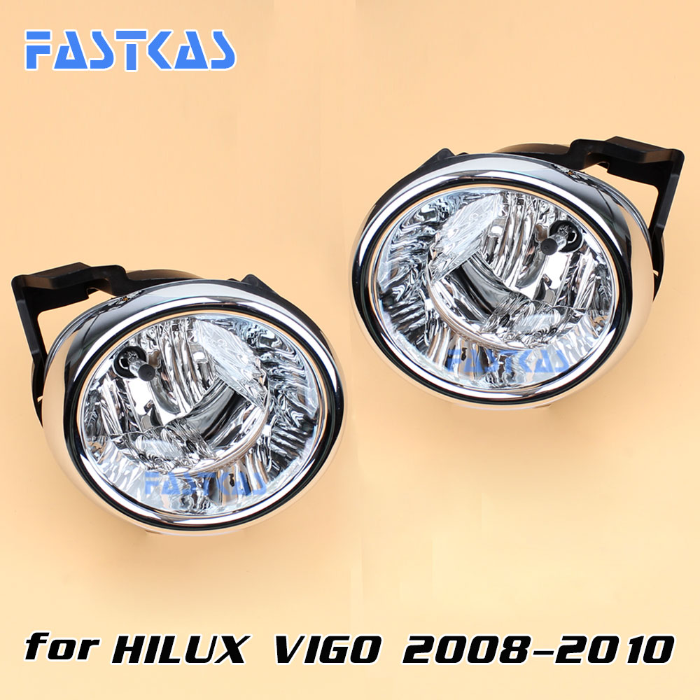 12v Car Fog Light Assembly for Toyota Hilux Vigo 2008-2010 Front Left and Right set Fog Light Lamp with Harness Relay<br>