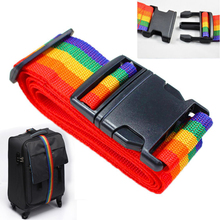 Mayitr Adjustable Outdoor Travel Rainbow Packing Belt Suitcase Luggage Baggage Straps Outdoor Tools Kits Accessories