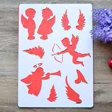 DIY Craft Angel Layering Stencils For Walls Painting Scrapbooking Stamping Stamps Album Decorative Embossing Paper Cards Crafts