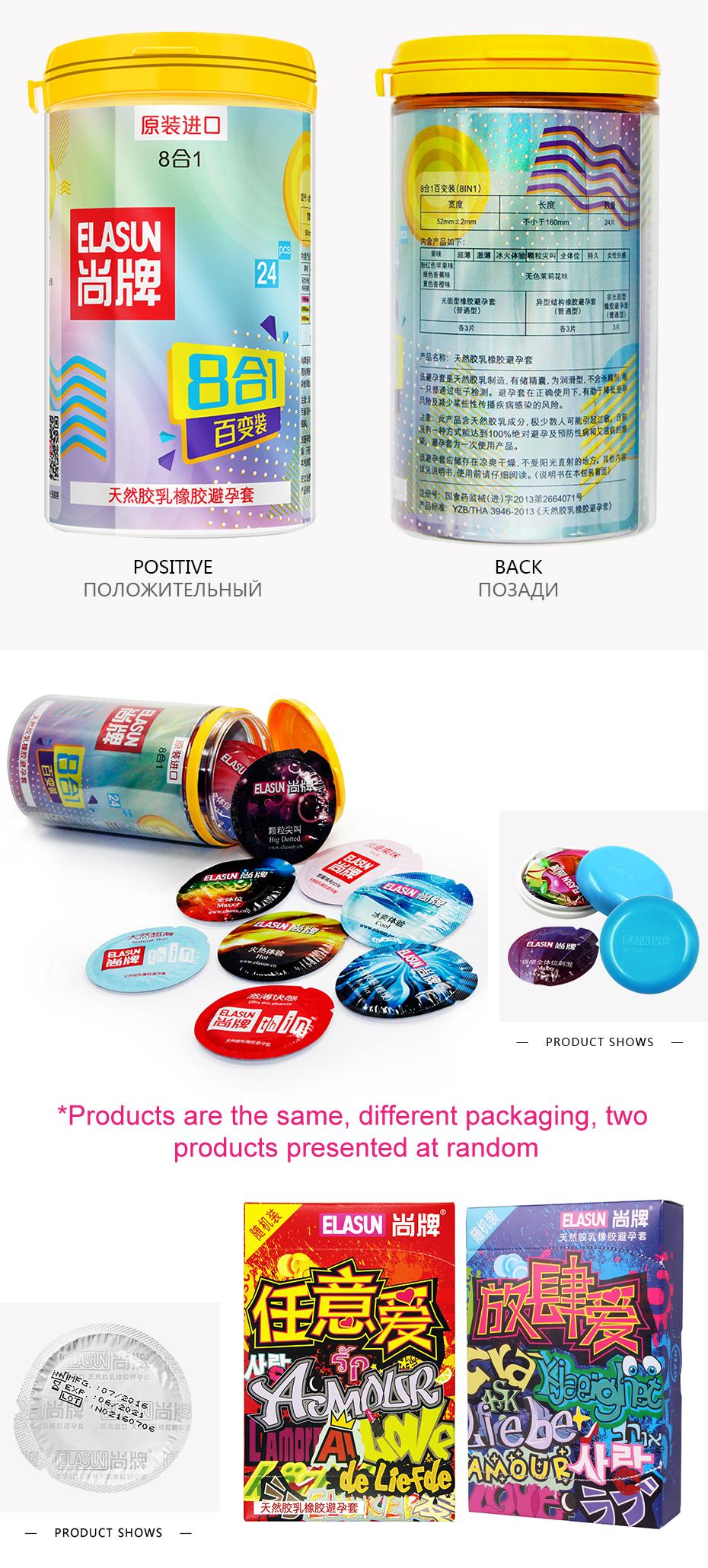 ELASUN 40pcs/Lot natural latex Condoms thread praticles G spot Ultra thin condoms for men sex toys penis sleeve elasun 40 adult 3