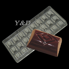 3 D DIY Home Making Cylindrical Diamond New Poly-carbonate Candy Mold Injection Hard PC Chocolate Mould Desert Tray
