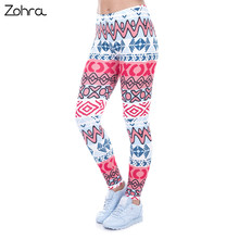 Zohra High Waist Legging Creative Leggins New African Aztec Legins Printed Women Leggings Sexy Women Pants