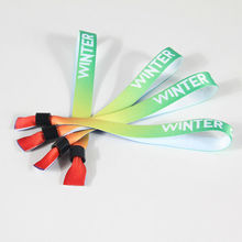 Free shipping Party ticket custom logo wristband sport for adults heat transfer printed satin sublimation bracelet 50 pcs/lot