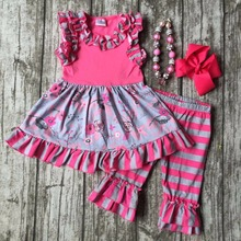 Baby girls summer clothing girls stripe ruffle capri pant clothing children summer floral dress top girls outfits with accessori