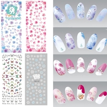 RU2PCS DS211-240 Winter Water Transfer Nails Art Sticker White Snowflake harajuku Nail Wraps Foil Sticker manicure stickers(China)