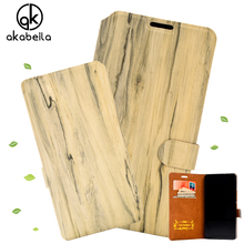 "Best Selling Wood Grain Flip PU Leather Phone Cover for Huawei Y635 CL00 Y635-CL00 5.0"" Wallet Style Phone Bag Fashion Slim Case"