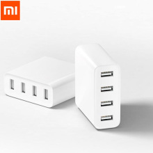 Original Xiaomi USB Charger 4 Port Socket 5V/7A 35W Travel Wall Charger 2.4A Quick Charge Waterproof for iPhone Android Phone(China)