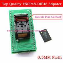 Free shipping Top Quality TSOP48 to DIP48 adapter,TSOP48 test socket 0.5mm Pitchfor RT809F RT809H & XELTEK USB Programmer(China)