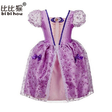 Cinderella Princess Girl Dress Christmas Cosplay Party Dress Costume Brand Children Clothing Baby Kids fantasia infantis vestido