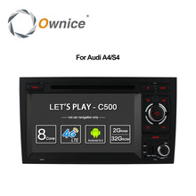 Ownice C500 Octa 8 Core 4G SIM LTE ANDROID 6.0 CAR DVD PLAYER for Audi A4 2002-2008 wifi GPS BT Radio 2GB RAM 32GB ROM(China)