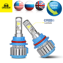Car head light Car Lights 7000LM Lamp Light CREE Chip for Low High Beam LED Headlamp H7 H11 9005 9006 9012 H1 H3 H4 9003 HB2 Kit(China)