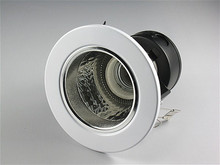 10pcs/lot Free Shipping White Round Recessed Downlight Casing Holder for E27 Bulb