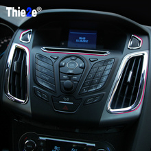 Promotion ABS Chrome trim accessories interior outlet decoration ring 5pcs For Ford Focus 3 MK3 2012 2013
