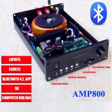Buy AMP800 CSS ES9023 LM1875 USB DAC audio Amplifier Bluetooth 4.2 SD Analog Input 30w*2 for $99.00 in AliExpress store