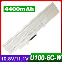 4400mAh laptop battery for MSI Wind U210-006US U230 U100 U90 U200 U210 for LG X110 for MEDION Akoya Mini E1210 BTY-S11 BTY-S12