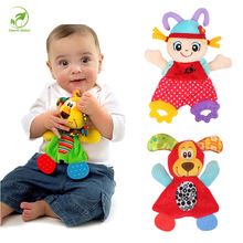 Buy Newborn Cute Cartoon Animal Hand Bells Plush Baby Rattles Infant Playmate Doll Teether Development Kids Toys Gift Christmas Toys for $4.42 in AliExpress store