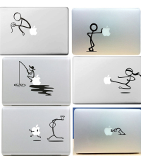 Humorous for Stick Figure Sticker for Apple MacBook Skin Air 11 12 13 Pro 13 15 17 Retina Creative Wall Vinyl Decal Laptop Skin