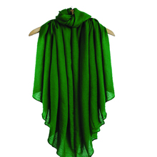 22 Candy Colors Green Women's Cotton Linen Scarves All-Match Shawls Oversize Soft Muffler Muslim Hijab Bufandas Size 180*140cm