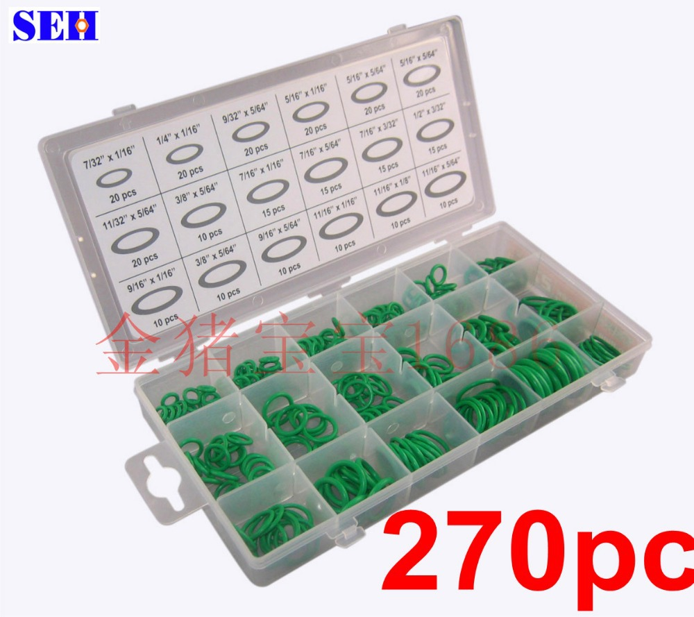 Hot selling 270PC green O ring kits / Seal / nitrile rubber high temperature / Set<br>