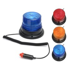 12V 10W LED Car Truck Magnetic Warning Light Flash Beacon Strobe Emergency Lamp Blue Yellow Red(China)