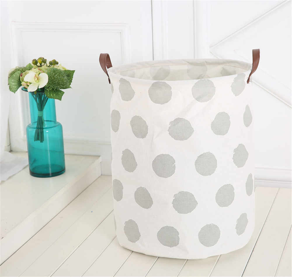 Waterproof Canvas Sheets Laundry Clothes Toy Basket Folding Storage  Laundry Basket Storage Barrels Household Cleaning Tools