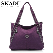 SKADI New Women Shoulder Bags WaterProof Folded Messenger Nylon Bag Dumplings Travel Tote Folding Handbags Bolsas Hobos