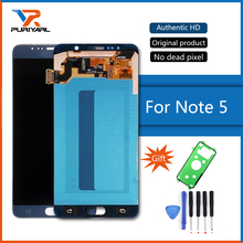 "5.7"" Original Amoled Display For Samsung Galaxy Note 5 N9200 N920G LCD Touch Screen Digitizer Replacement Free Shipping(China)"