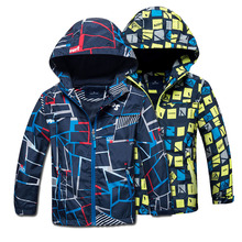 2018 Spring Autumn Polar Fleece Children Outerwear Warm Sporty Kids Clothes Waterproof Windproof Boys Jackets For 4-12T 2 Colors(China)