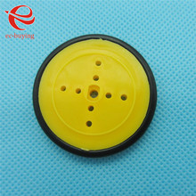 2pcs/lot Small Smart Car Tire Chassis Plastic Robot Chassis Wheel Rubber Band(China)