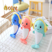Headphones dolphin plush toy doll pillow queen size doll birthday gift ideas female doll Children's Day